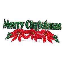 merry light up sign lights card and decore