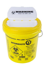 wall mounted sharps containers one piece single use 3 litre sharps container interwaste