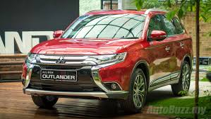 red mitsubishi outlander mitsubishi outlander 2 4l launched in malaysia cbu priced at