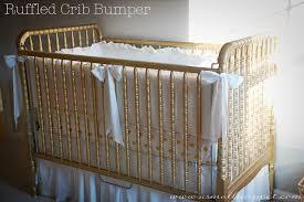 ruffled crib bumper a small snippet
