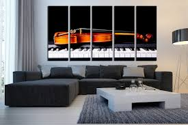 5 piece canvas wall art 5 piece huge canvas print living room canvas photography violin art piano multi