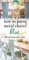 How To Paint Wrought Iron Patio Furniture by Best 25 Painting Metal Chairs Ideas Only On Pinterest Old Metal
