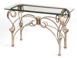 wrought iron dining table glass top sofa table design glass top sofa table metal astonishing unique