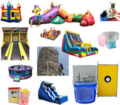 carnival party rentals party time rentals carnival rides dunk tank bounce houses