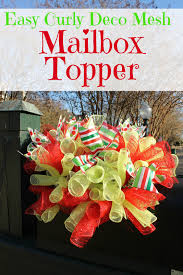 Mailbox Christmas Decorations by Miss Kopy Kat Curly Deco Mesh Mailbox Topper