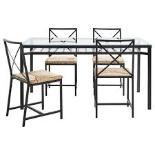 GRANÅS Table And  Chairs Blackglass IKEA - Ikea dining rooms