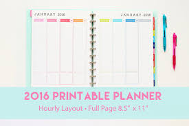 printable january 2016 weekly planner 8 best images of 2016 printable hourly planner free printable