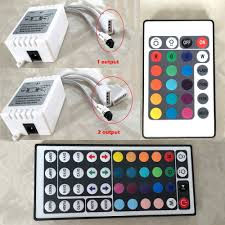 Led Light Strip Controllers by 24 44 Key Ir Remote Controller Box Ac Dc 12v For Led Rgb 3528 5050