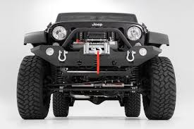 custom jeep bumper full width black front winch bumper for 07 17 jeep wrangler jk