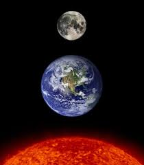 sun earth and earths moon not made by anyone but him awesome