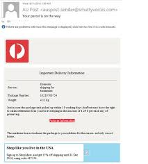Common Business Email Addresses by Scam Alerts Australia Post