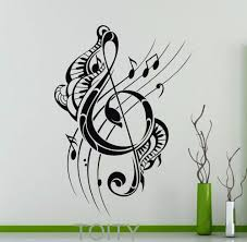 online get cheap musical note wall decals aliexpress com treble clef wall decal musical notes music recording studio vinyl sticker home interior decoration fashion art