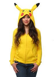 pikachu costume womens i am pikachu hoodie