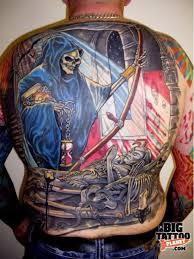 bob hoyle colour tattoo big tattoo planet grim reaper