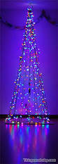 string light and garland wall christmas tree christmas