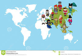 World Map Of Asia by Asian People Cartoons World Map Diversity Illustr Royalty Free