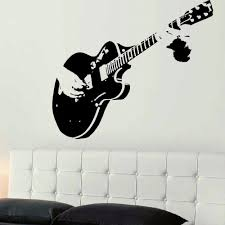 large guitar vinyl wall art decal decal obsession removable wall decals decal obsession