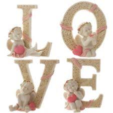 angel decorations for home set of 4 decorative angel figurine cherub statue pink heart love
