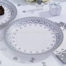 silver wedding plates disposable paper plate with doily disposable paper plate with