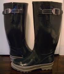 womens rubber boots size 9 by marc s boots size 9 navy grey gray
