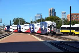 Dart Map Dallas by Trinity Rail Express Train 2726 Fort Worth To Dallas Arrives At