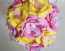 Wedding Flowers Roses Butterfly Bouquet Etsy