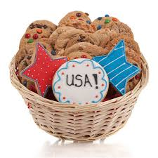 cookie gift baskets patriotic cookie gift basket aagiftsandbaskets