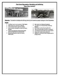 the great depression pamphlet activity more activities students