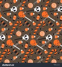 halloween invitations background halloween pattern cartoon holiday candies on stock vector