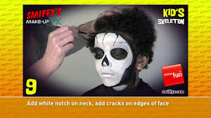 Skeleton Face Paint For Halloween by Skeleton Halloween Face Painting Make Up Tutorials For Children