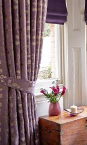contrast patterned curtains with deep colour blinds blinds
