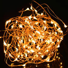 cheap wholesale 33ft copper wire led starry lights festival