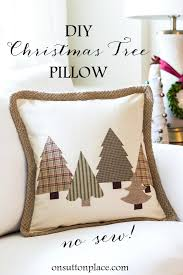 diy no sew tree pillow on sutton place