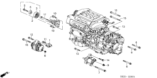 2001 honda accord coupe parts honda accord 2 door ex v6 ka 4at alternator bracket v6
