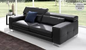 Bene Top Grain Leather  Seater Designer Sofa Delux Deco - Leather 3 seat sofa
