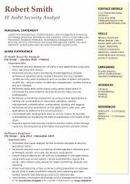 cover letter auditor security analyst resume it audit security analyst resume sample
