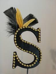 s cake topper gatsby roaring 20 s black gold letter s cake topper 2663332