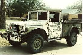 old yellow jeep m 37 military dodges