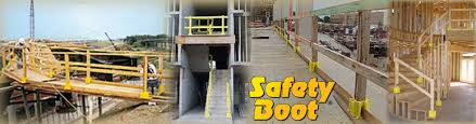 Osha Handrail Post Spacing The Safety Boot Guardrail System By Safety Maker Temporary