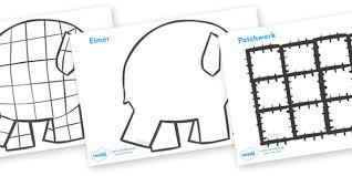 Elmer The Patchwork Elephant Story - elmer colouring sheets elmer elmer the elephant resources