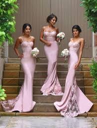 fitted bridesmaid dresses new design spaghetti straps mermaid bridesmaid dresses lace
