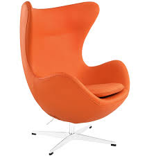 arne jacobson style egg chair leather