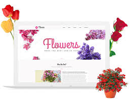 free flowers free flower shop template build your florist website theme today