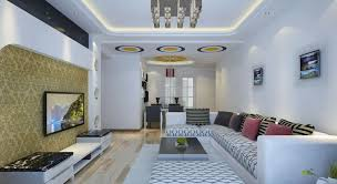 outstanding interior design of living room with lcd tv 24 on
