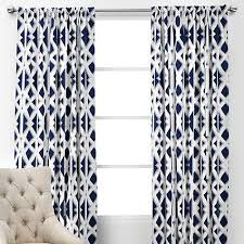 Pattern Drapes Curtains Window Treatments Elton Panels Navy And White Geometric Drapes