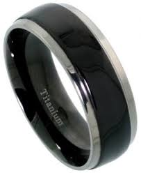 titanium mens wedding bands men s comfort fit titanium wedding band 8mm black satin finish