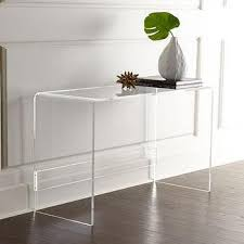 Clear Acrylic Desk Table Peekaboo Rectangular Acrylic Desk
