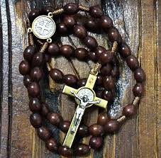 wooden rosaries st benedict wooden rosary handcrafted in medjugorje catholic