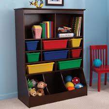 bookshelf with storage bins espresso u2022 storage bins