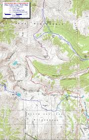 Colorado On The Map by Blue Lake Loop South San Juan Wilderness Colorado Free Topo